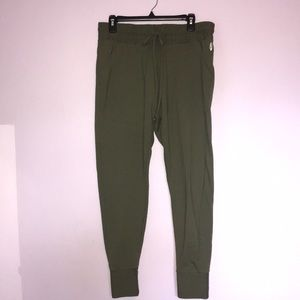 Free People Sunny Skinny Army Green Joggers